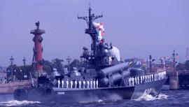 Владимир Путин принял участие в праздновании Дня военно-морского флота