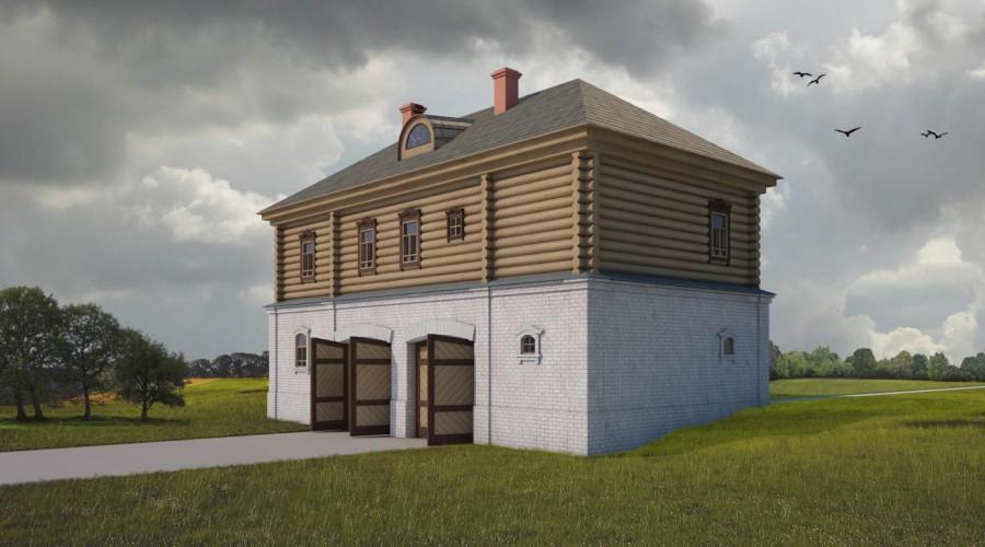 Д8 Дом с террасой и балконом 6 на 6 готовый проект ТВОЙ